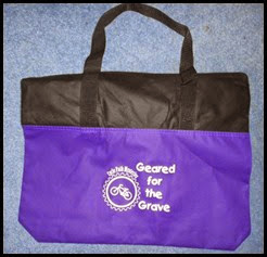 Geared for the Grave Tote Bag - Thoughts in Progress