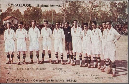 Sevilla campeón Copa de Andalucia1922