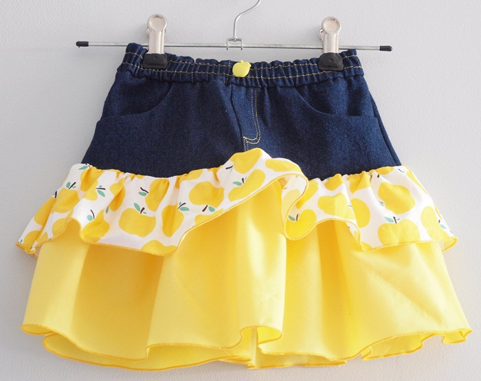 yellow apple skirt