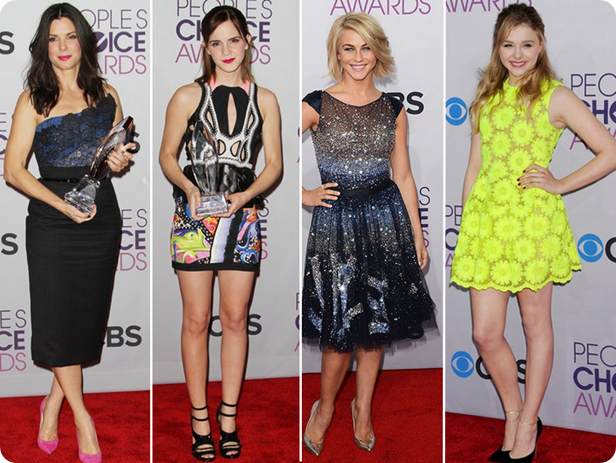 lindos, premio, trofeu, pca 2013, peoples choice awards, red carpet, sandra bullock, emma watson, julianne hough, chloe moretz, vantagens de ser invisivel, porto seguro, carrie