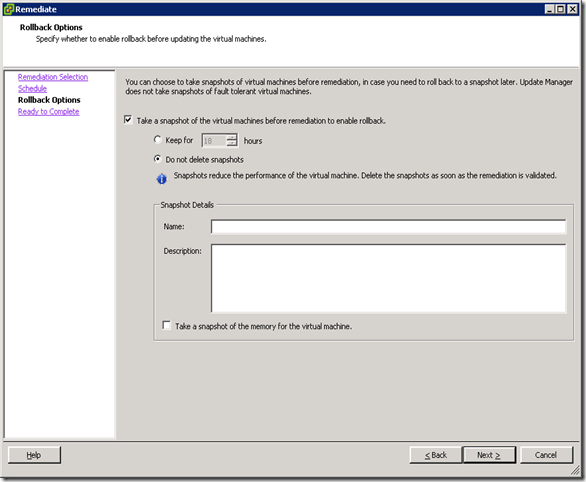 06_VM Tools Remediate Rollback Options
