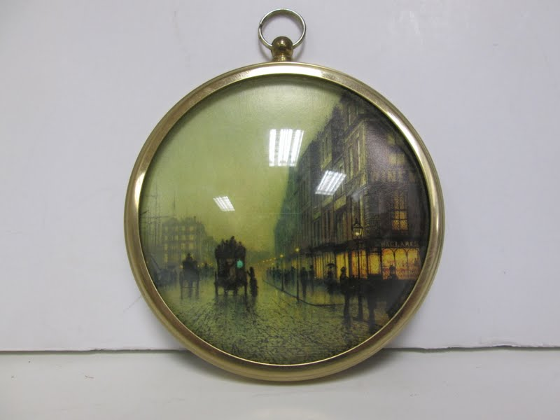 Vintage Wall Plaque Print of Atkinson Grimshaw's Liverpool Quay By Moonlight