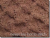 2014 Taupe Buffalo Shawlette detail