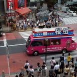 cute pink van in Tokyo, Tokyo, Japan
