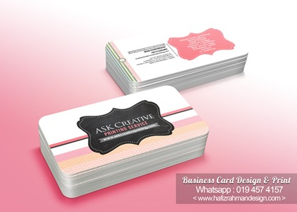 BUSINESS CARD DESIGN ASK  PRINTING SERVICE