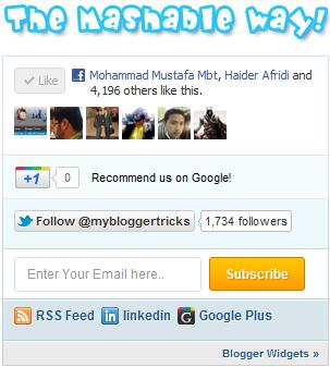 Add Stylish Mashable Sharing Widget to Blog And Website