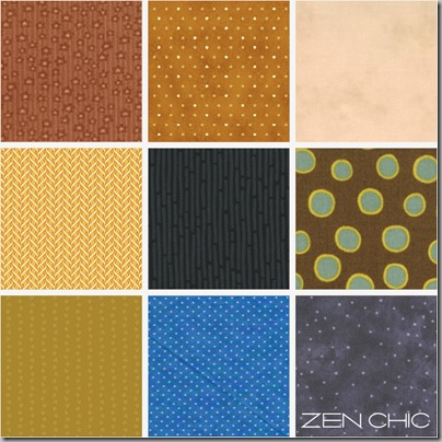 Fabric choice lehm blau und limone