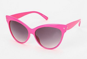 pink cat eye sunnies via uo