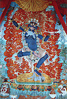 Large thanka in lobby of Vajra Hotel, Swayambu, Nepal
