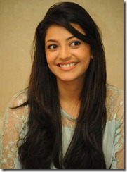 Kajal Cute Face Photos at Sarocharu Movie Interview