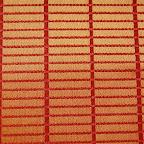 Ozdobna tkanina w kratkę. Na zasłony, poduszki, dekoracje. Szeroka 300cm. Czerwona, pomarańczowa, złota.
