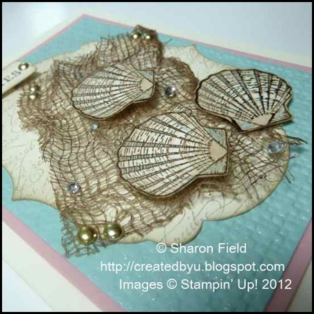 Created by you fish net and shells stampin up style for Fish nets near me
