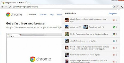 Google plus para Chrome