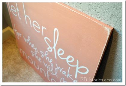 PBJcreations let her sleep