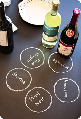 Wine Tasting Chalkboard Table