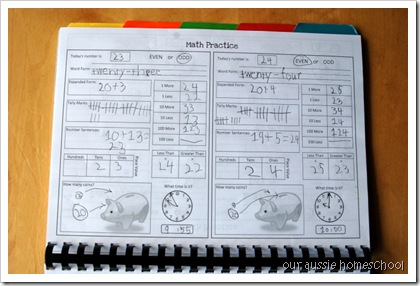 Our Aussie Homeschool - Free Calendar Notebook with Blank & Traceable Calendars & Daily Math Practice!