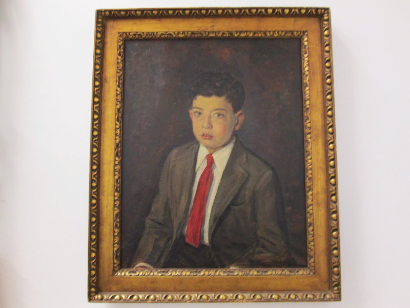 Oil Painting of boy Signed and dated 1935