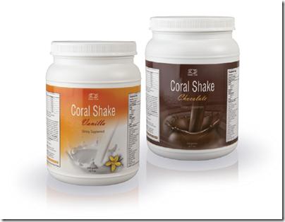 коктейли Coral Shake Vanilla / Корал Шейк Ванилия и Coral Shake Chocolate / Корал Шейк Шоколад