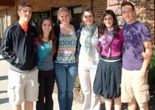 Nicholas Yoder, Naomi Miller, Hannah Gingerich, Laura Hochstetler, Keilah Brokaw, Cody Miller.  Photo Courtesy:  Iowa Mennonite School