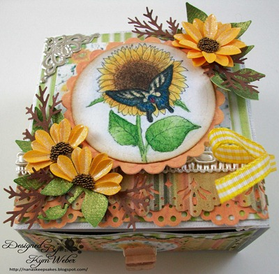 Swallowtail & Sunflower Card Box