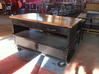 "5' x 3' x 37"" T Ellis Kitchen Island with overhang"