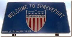 Shreveport Welcome Sign