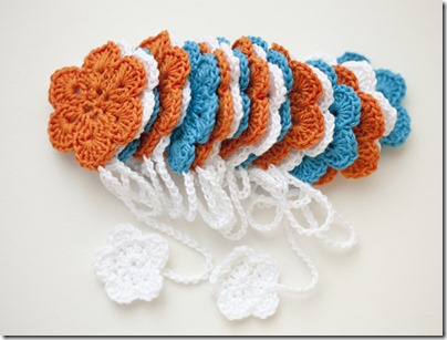 Blue White Orange Bunting5