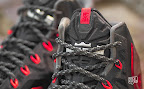 nike lebron 11 gr black red 10 03 New Photos // Nike LeBron XI Miami Heat (616175 001)