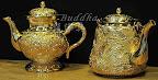 經典手工細膩打造-鍍純金-超級可愛的精緻小酒壺~