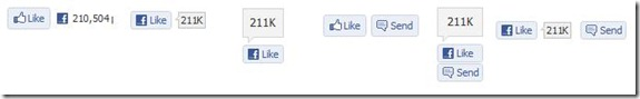 pulsanti e contatori facebook