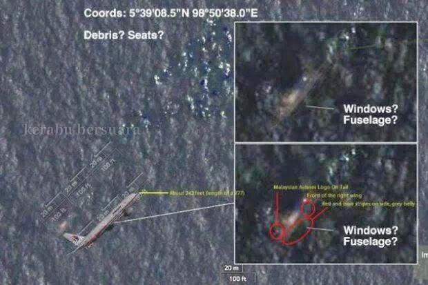 Terkini! Rakaman Gambar Dari Satelit Sperti Serpihan Dalam Laut