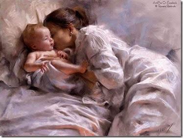 madre con bebe vintage (6)