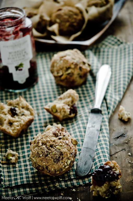 Spiced Cranberry and Pistachio Muffins (0037) by Meeta K. Wolff