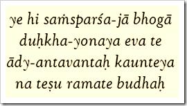 Bhagavad-gita, 5.22