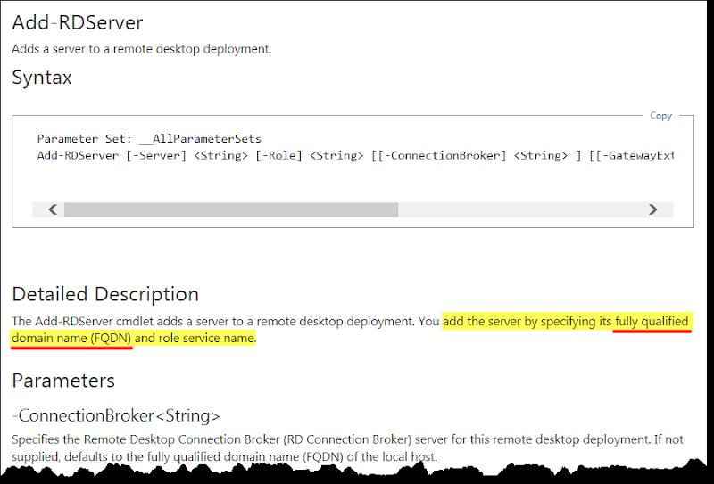 Add-RDServer 指令說明
