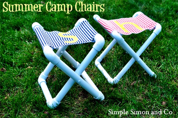 DIY PVC Summer Camp Chairs by Simple Simon and Co.