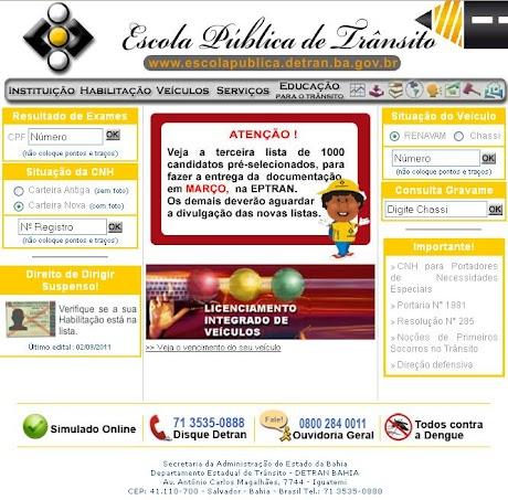 <b>Detran BA</b>, Simulado, IPVA, Multas, <b>Endereço</b>, <b>Telefone</b> e Site <b>...</b> 2014