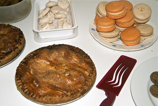 We had traditional desserts like pie, plus cookies and pumpkin and hazelnut macarons (yum!).