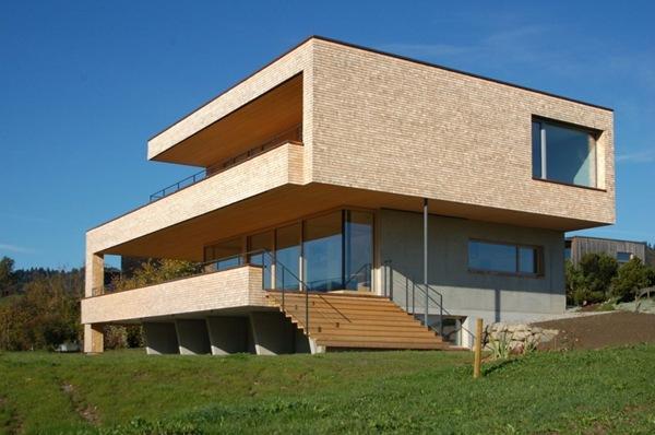 casa con fachada moderna