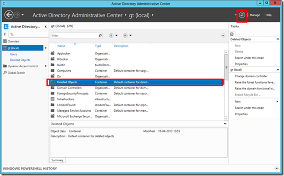 how to restore accidental delete in windows server 2012