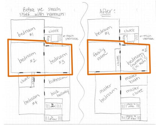 floor plan upstairs