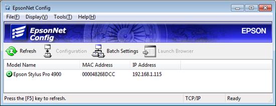 EpsonNet Config 3.7