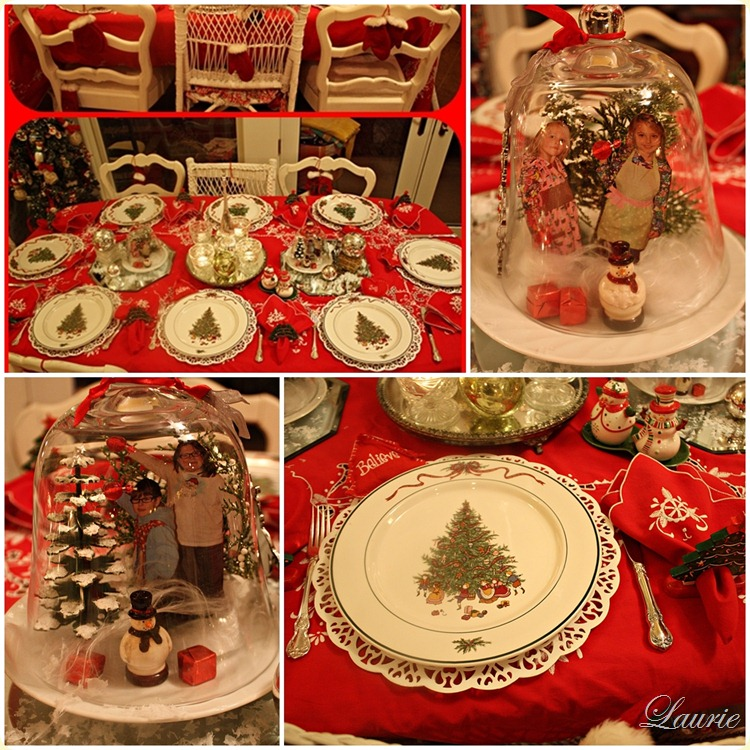 Christmas tablescapes  -Bargain Decorating with Laurie