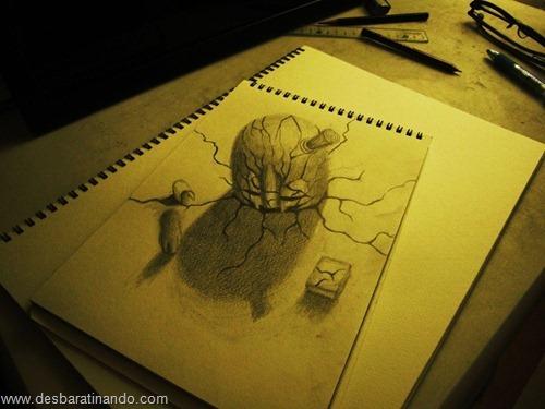 desenhos lapis 3D desbaratinando  (13)