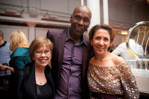 Designer Anne Barge, event planner Preston Bailey, and designer Reem Acra.