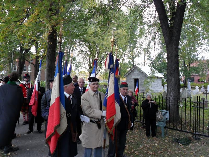 Commémoration des morts Français, Anglais, Canadiens et Amérindiens des guerres de 1755 à 1760 du 29 Septembre 2012