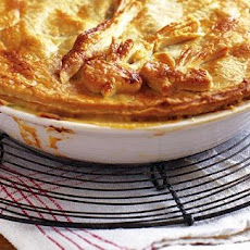 Roots, Ham And Caramelised Onion Pie