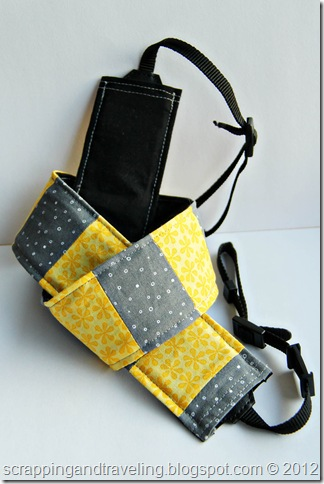 Yellow and Grey Camera Strap Cover