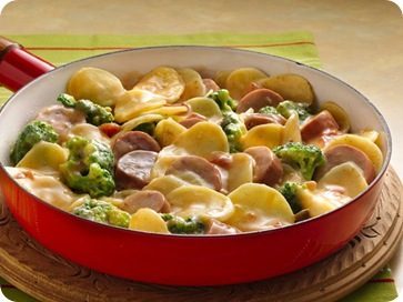 Potato, Broccoli, and Sausage Skillet