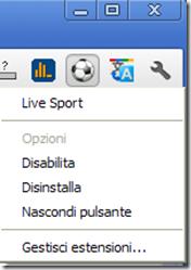 Icone accanto barra indirizzi Chrome
